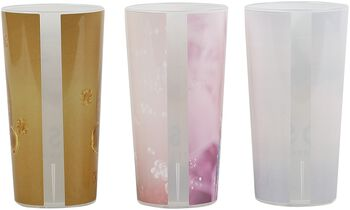 3er Set Becher MOSAIK